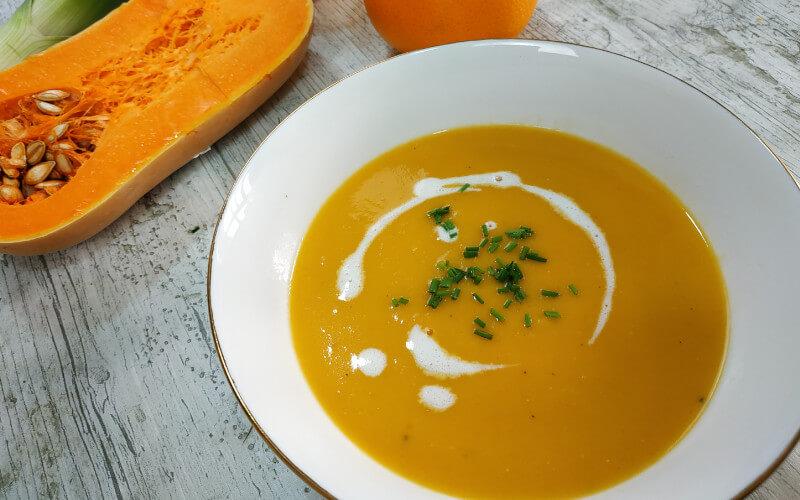 Crema de Calabaza y Naranja