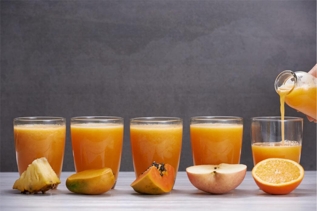 El zumo más consumido es el de naranja