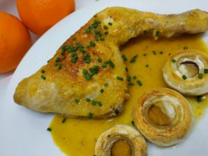 Pollo a la naranja 1