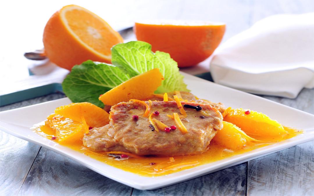 Lomo a la naranja