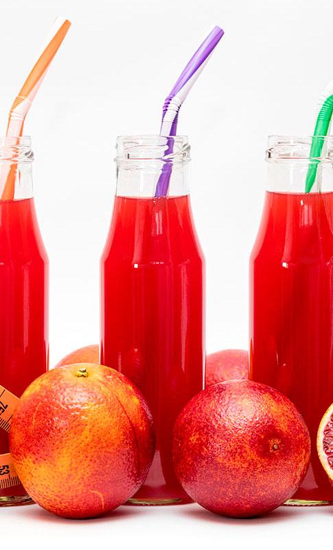 naranja sanguina en zumo