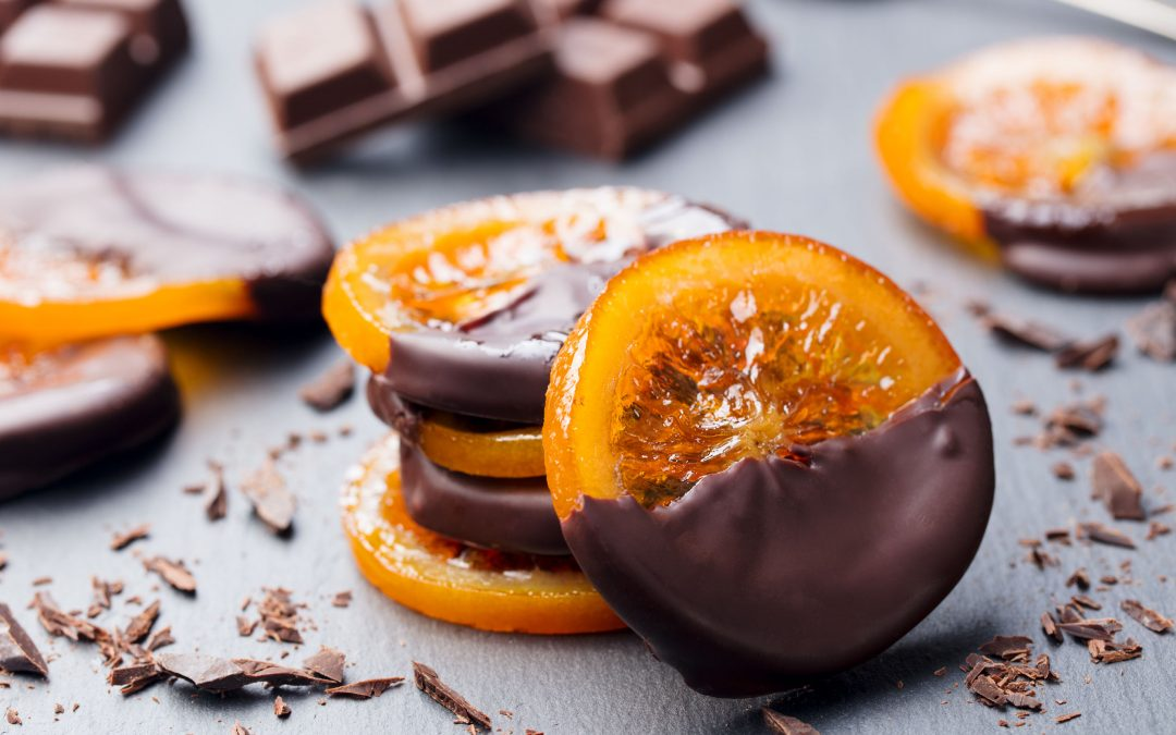 Naranja con chocolate