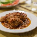 conejo en salsa de almendras
