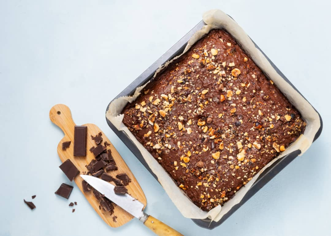 Tarta de almendras y chocolate