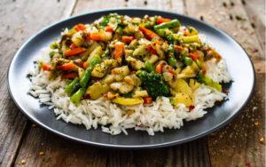 Arroz con pollo y verduras 1