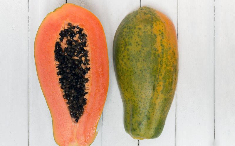 calorías de la papaya